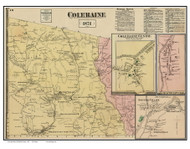 Coleraine & Villages, Massachusetts 1871 Old Town Map Reprint - Franklin Co.