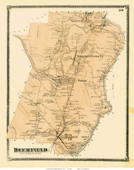Deerfield, Massachusetts 1871 Old Town Map Reprint - Franklin Co.