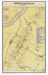 Northfield Village, Massachusetts 1871 Old Town Map Reprint - Franklin Co.