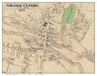 Orange Centre, Massachusetts 1871 Old Town Map Reprint - Franklin Co.