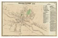 Orange Village, Massachusetts 1871 Old Town Map Reprint - Franklin Co.