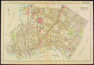 Plate 1, Beverly - parts of Wards 1 and 2, 1919 - Old Street Map Reprint - Essex Co.