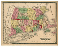 Massachusetts, Rhode Island & Connecticut 1870 - Hampden County Atlas