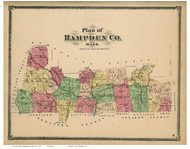 Hampden Co, Massachusetts 1870 - County Atlas