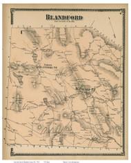 Blandford, Massachusetts 1870 Old Town Map Reprint - Hampden Co.
