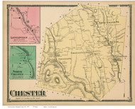 Chester, Littleville & North Chester, Massachusetts 1870 Old Town Map Reprint - Hampden Co.