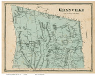 Granville, Massachusetts 1870 Old Town Map Reprint - Hampden Co.