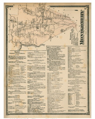 Montgomery & Westfield Business Directory, Massachusetts 1870 Old Town Map Reprint - Hampden Co.