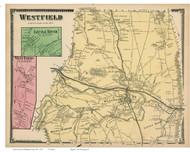Westfield, Little River & West Farms, Massachusetts 1870 Old Town Map Reprint - Hampden Co.
