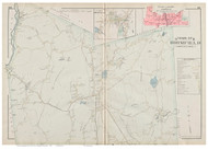 Brimfield, Massachusetts 1894 Old Town Map Reprint - Hampden Co.