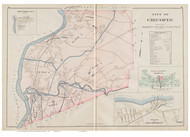 Chicopee, Massachusetts 1894 Old Town Map Reprint - Hampden Co.