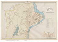 Holyoke, Massachusetts 1894 Old Town Map Reprint - Hampden Co.