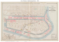 Holyoke City - Manutfacturing District, Massachusetts 1894 Old Town Map Reprint - Hampden Co.