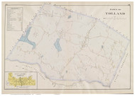 Tolland, Massachusetts 1894 Old Town Map Reprint - Hampden Co.