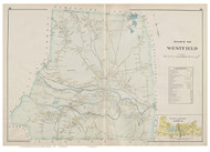 Westfield, Massachusetts 1894 Old Town Map Reprint - Hampden Co.
