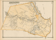 Arlington, Massachusetts 1875 Old Town Map Reprint - Middlesex Co.