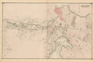 Arlington Village, Massachusetts 1875 Old Town Map Reprint - Middlesex Co.