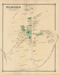 Bedford Village, Massachusetts 1875 Old Town Map Reprint - Middlesex Co.