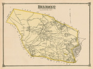 Belmont, Massachusetts 1875 Old Town Map Reprint - Middlesex Co.