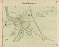 North Billerica, Massachusetts 1875 Old Town Map Reprint - Middlesex Co.