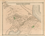 North Chelmsford, Massachusetts 1875 Old Town Map Reprint - Middlesex Co.
