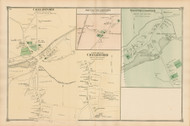 Chelmsford, South Chelmsford and West Chelmsford, Massachusetts 1875 Old Town Map Reprint - Middlesex Co.