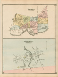 Dracut and Merrimack Mills Village, Massachusetts 1875 Old Town Map Reprint - Middlesex Co.