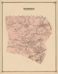 Framingham, Massachusetts 1875 Old Town Map Reprint - Middlesex Co.