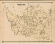 Groton, Massachusetts 1875 Old Town Map Reprint - Middlesex Co.