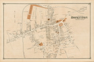 Hopkinton Village - North, Massachusetts 1875 Old Town Map Reprint - Middlesex Co.