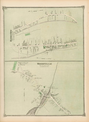 Woodville and Holden Row - Hopkinton, Massachusetts 1875 Old Town Map Reprint - Middlesex Co.