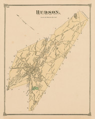 Hudson, Massachusetts 1875 Old Town Map Reprint - Middlesex Co.