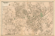 Malden Village, Massachusetts 1875 Old Town Map Reprint - Middlesex Co.