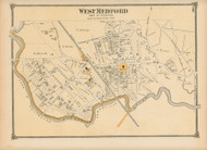 West Medford, Massachusetts 1875 Old Town Map Reprint - Middlesex Co.