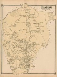 Reading, Massachusetts 1875 Old Town Map Reprint - Middlesex Co.