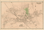 Reading Village, Massachusetts 1875 Old Town Map Reprint - Middlesex Co.
