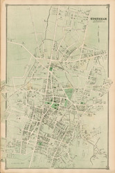 Stoneham Village, Massachusetts 1875 Old Town Map Reprint - Middlesex Co.
