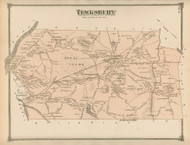 Tewksbury, Massachusetts 1875 Old Town Map Reprint - Middlesex Co.