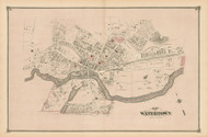 Watertown Village, Massachusetts 1875 Old Town Map Reprint - Middlesex Co.