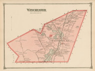 Winchester, Massachusetts 1875 Old Town Map Reprint - Middlesex Co.
