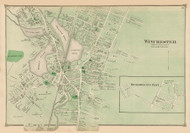 Winchester Village, Massachusetts 1875 Old Town Map Reprint - Middlesex Co.
