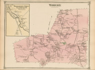 Woburn, Massachusetts 1875 Old Town Map Reprint - Middlesex Co.