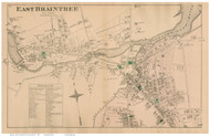 East Braintree, Massachusetts 1876 Old Town Map Reprint - Norfolk Co.