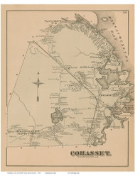 Cohasset, Massachusetts 1876 Old Town Map Reprint - Norfolk Co.