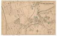 East Dedham, Massachusetts 1876 Old Town Map Reprint - Norfolk Co.
