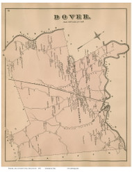 Dover, Massachusetts 1876 Old Town Map Reprint - Norfolk Co.