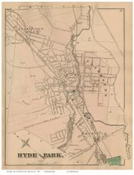 Hyde Park, Massachusetts 1876 Old Town Map Reprint - Norfolk Co.