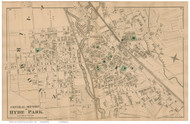 Hyde Park - Central Section, Massachusetts 1876 Old Town Map Reprint - Norfolk Co.