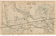 Hyde Park - South Section, Massachusetts 1876 Old Town Map Reprint - Norfolk Co.