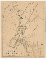 East Milton, Massachusetts 1876 Old Town Map Reprint - Norfolk Co.
